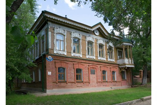 Wooden mansion (1901), Novosibirsk, Russia