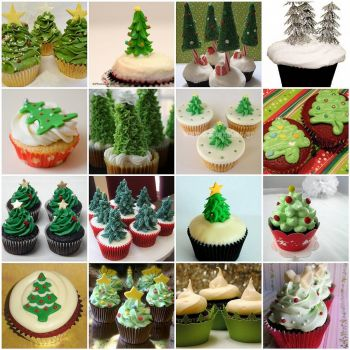 Christmas Tree Cupcakes by kimmie on flickr