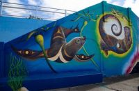 A Mural at the Victoria BC waterfront.