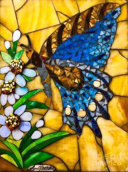 Good Morning Butterfly Mosaic - Laura Mckellar, Artist