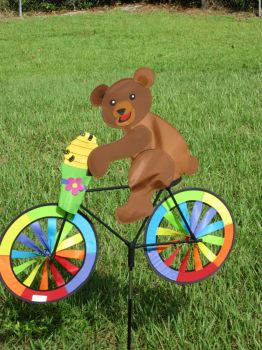 bicycle pedaling bear