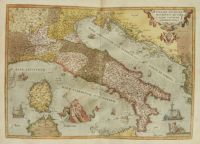 old map of Italy by Abraham Ortelius (1579)
