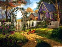 Purple Country Cottage