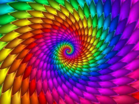 4  ~  'Featherly Rainbow Spiral'