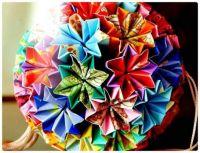 Origami Paper Ball Flower Bouquet