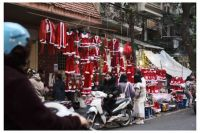 A lot of Xmas outfits in Hanoi