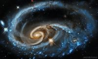UGC 1810 Wildly Interacting Galaxy from