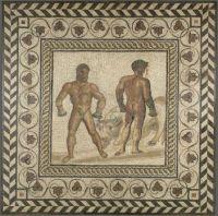 Mosaic floor - Combat between Dares and Entellus