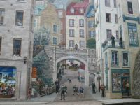 Wall Mural, Old Port, Quebec.