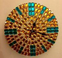 THEME: CLOCKS & TIME PIECES - JEWELLED CLOCK