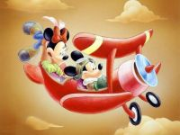 Minnie & Mickey flying high