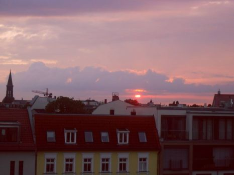 Sunset over Berlin