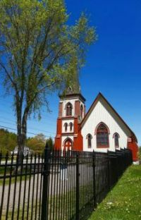 ..church with iron fence