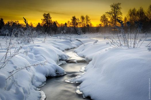 Sunset Snow Scene