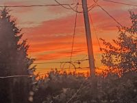 Sunset with whiff of snow near Lake Burien