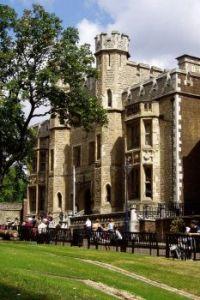 Courtyard, Tower of London darker
