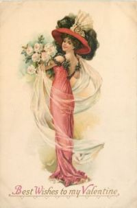 Themes Vintage illustrations/pictures - Valentine card 1910