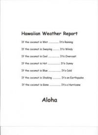 Hawaiian Weather Report