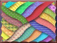 Colorful 3D Layered Mosaic
