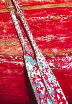 weathered oars