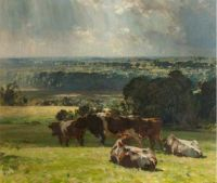 "Sir John Alfred Arnesby Brown R.A., ""A Norfolk Landscape"""