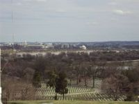 Arlington National Cemetery overlooking Washington, DC