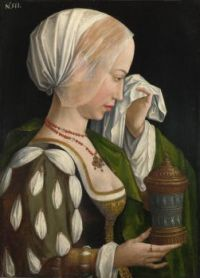 Workshop of Master of the Magdalen Legend-The Magdalen Weeping