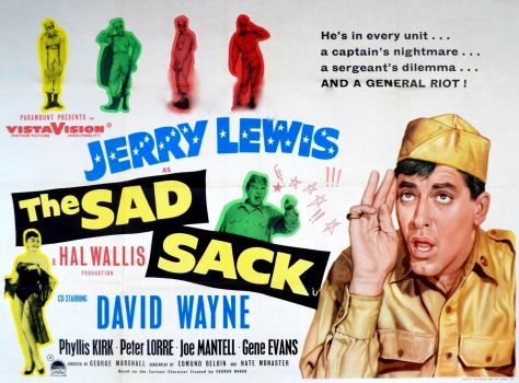 THE SAD SACK - 1957 MOVIE POSTER JERRY LEWIS