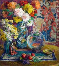 Kathryn E. Cherry (American, 1870–1931) Fish, Fruits, and Flowers (1923)