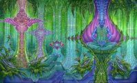 beautiful trippy dmt spirit molecule wallpaper