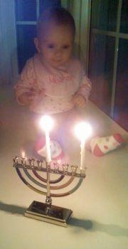 Her first Chanukkah