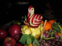 fruits with an apple bird
