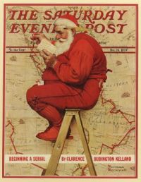 Saturday Evening Post Santa