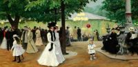 "Paul Gustav Fischer, ""The Red Balloon, Summer Evening in Tivoli"""