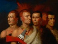 Charles Bird King, Young Omahaw, War Eagle, Little Missouri, and Pawnees (1821)