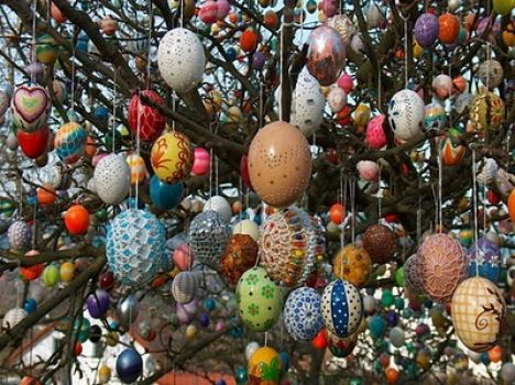 Easter egg tree (a day late, but too good not to share)