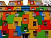 Colorful Apartment House