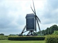 Windmill in Brielle. When the wind turns, the whole mill is turned round towards the wind.