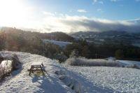 Snow in Port Huon, Tasmania
