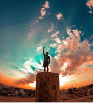 On top of the world at the Citadel, Amman
