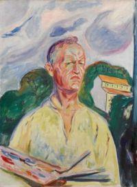 Edvard Munch (Norwegian, 1863–1944), Self-Portrait with Palette (1926)