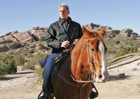 Gibbs on horseback
