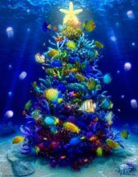 xmas fish tree