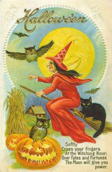 Theme: Vintage Halloween Card
