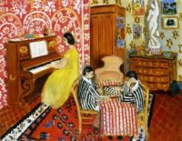 Piano and Checkers Players