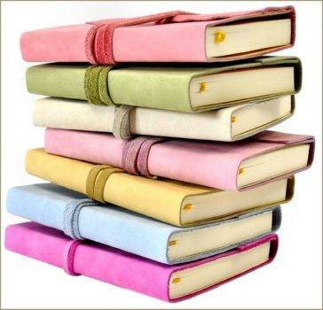Pastel Leather Covered Books