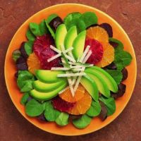 Avacado and blood orange salad