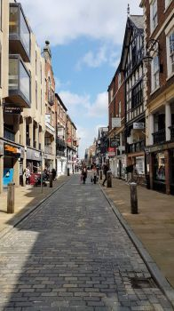Chester - Watergate Street view towards The Cross