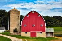 Red Barn and Silo -- Jump River, Wisconsin....