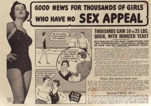 Vintage Ads, when women WANTED to gain weight #2